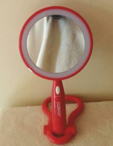 Conair Rotating Lighted Magnifying Vanity or Hand Mirror Battery Operated EUC