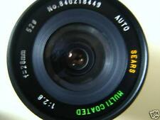 Minolta MD Mount f/2.8 28mm Wide Angle Lens X-370 X570 X700 XG7 XE XD SRT Tested
