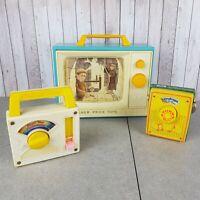 3 x Fisher Price Vintage Music Box Bundle Bridge Of Avignon, Rain-Drops and O...
