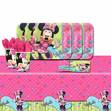 Disney Minnie Mouse Bowtique Children's Birthday Party Tableware Pack Kit For 8