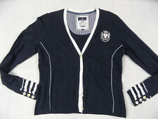 L `ARGENTINA schöner Cardigan blau Gr. XL TOP KoS1118