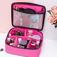 Portable Large Women Pro Cosmetic Pen Brushes Case Makeup Bag Handbag Travel Kit