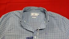 Southern Tide Men's Medium Long Sleeve Cocodella Check Sport Shirt M Blue NWT