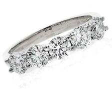 2.00ct Certified D IF EXC Brilliant Cut Diamond and 18ct White Gold Ring 5-stone