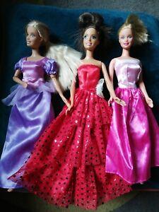 Barbie Doll Bundle princess in clothes dresses