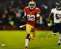 Mario Manningham Autographed 49ers 16x20 Horizontal Running Photo- JSA Auth