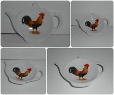 BN Leghorn Cockerel Tea Bag Tidy, Tea Bag Rest, Porcelain Chicken Tea Bag Holder