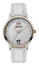Ingersoll Disney Rose Gold Case White Leather Strap Womens Watch ID00502