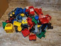 LEGO DUPLO SPARES VINTAGE BUNDLE OF VEHICLE PARTS 1.5KG