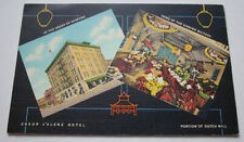 Vintage Art Deco Coeur d' Alene Hotel - Spokane Washington Linen Post Card