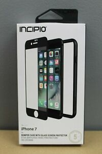 Incipio Bumper Case With Glass Screen Protector for Apple iPhone 7 Color:Black