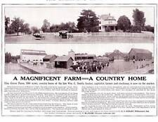 1913 Vintage ad A Magnificent Farm A Country Home Indiana Farms