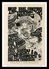 """Framed Vintage Style Rock 'n' Roll Poster """"THE DOORS"""";12x18"""