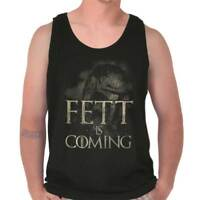 Fett Is Coming Funny Space Movie TV Show Adult Tank Top Sleeveless T-Shirt