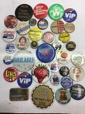 VINTAGE~OLD~LOT COLLECTIBLES PINBACKS~PINS~BADGES~BOBBLES~UNION
