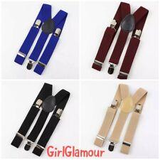 Kids Boys Suspenders Braces Belt Clip-on Elastic Adjustable Page Boy Wedding