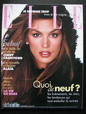 French ELLE '94 Olivier Martinez CINDY CRAWFORD Naomi Campbell Michelle Behennah