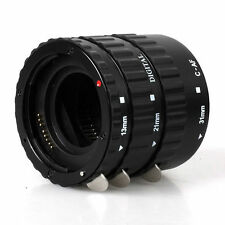 Metal Auto Focus AF Macro Extension Tube/Ring f CANON EOS 750D 7D 5DII EF-S Lens