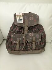 NWT T-Shirt & Jeans Taupe Multi Faux Leather/ Canvas Backpack