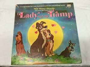 Walt Disney Lady and the Tramp Book Record Peter Pan , Very Good +