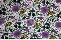 by Yard Fabric Soft Cotton garments use hand block print fabric- Flower Printing