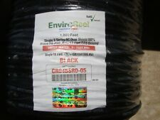 DIRECTV Perfect Vision EnviroReel SINGLE BLACK WITH GROUND COAX CABLE RG6 SOLID