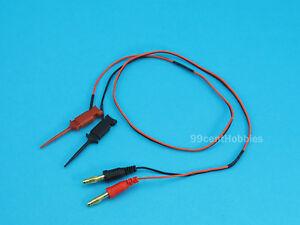60cm Silicone Leads w/ SMD Micro Grabber/Hook/Clip and Banana Plugs (Black+Red)