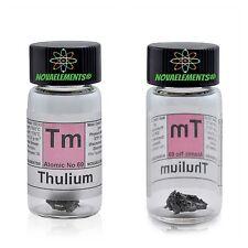 Tulio metallo elemento 69 Tm - puro 99,99% 1g in vial + etichetta