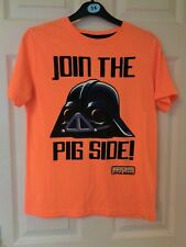 BOY'S ORANGE ANGRY BIRDS STAR WARS SHORT SLEEVED T-SHIRT AGE 11-12 YEARS