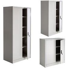 Armoire de bureau metallique meuble de rangement armoire-fichier 2 portes