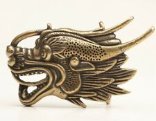 Statue Buckle Collectable Gift Chinese Bronze Hand Casting Dragon
