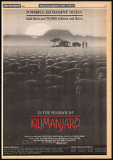 IN THE SHADOW OF KILIMANJARO__Original 1985 Trade AD / poster__TIMOTHY BOTTOMS