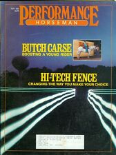 1987 Performance Horseman Magazine: Butch Carse- Boosting Young Rider/Tech Fence