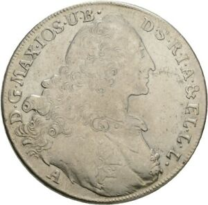 Künker: Bayern, Maximilian III. Joseph, 1 Taler 1770 A Konventionstaler, Madonna