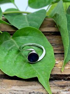 Blue Sapphire Ring, 925 Sterling Silver ring, Gemstone Silver Ring SR-9016