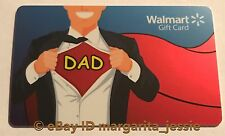 """WALMART US GIFT CARD """"FATHER'S DAY SUPER HERO DAD"""" NO VALUE NEW"""