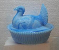 Boyd Glass 5 inch Turkey on a Nest Alpine Blue