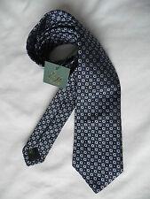 Ede Ravenscroft Brand New multi blue silk tie RRP £80
