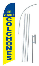 Se Venden Colchones We Sell Mattresses w Tall Advertising Banner Flag Complete S