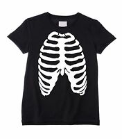 RIB CAGE UNISEX KIDS T-SHIRT - Halloween Skeleton Fancy Dress Ribcage Childrens