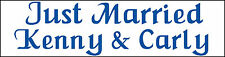 (2) PERSONALIZED JUST MARRIED VEHICLE CAR MAGNETICS SIGNS