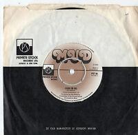 """Mud - Lean On Me 7"""" Single 1976"""
