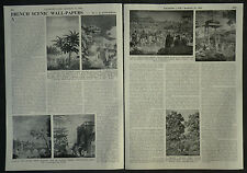 Antique French Scenic Wallpaper 1805-1860 History Of 1956 2 Page Photo Article