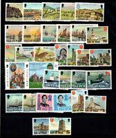 Île de Man 1980-82 Neuf ** 100% Phares, châteaux, bateaux, famille royale