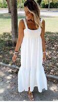 NEW ZARA White Loose Fitting Textured Dress Size L UK 12 Ref 2725/310