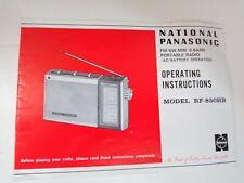 National Panasonic RF-850HB 3-Band Multi Radio Operating Instructions/Manual