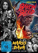 Mediabook Baron Blood Maria Bava Colección Limited Blu-Ray + 2 Caja de DVD Nuevo
