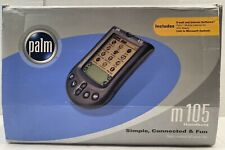2 Palm M105 Handhelds + HotSync Cradle + 5 Stylus + Internet/Email Ready PDA