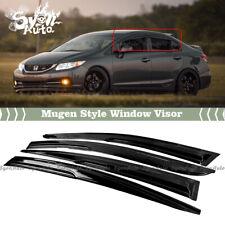 Fits 2012 2015 Honda Civic Sedan Jdm 3d Wavy Mugen Style Window Visor Rain Guard Fits 2013 Honda Civic Si