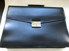 PRADA Black Leather Men's Attache Briefcase Bag